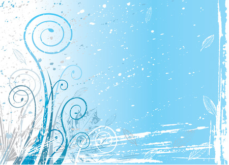 winter flora background, vector illustration file Vector