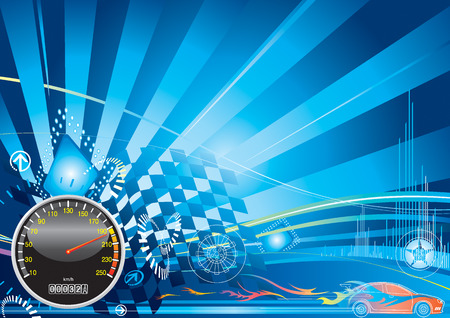 car racing concept design, vector illustration with layer Stock Vector - 2900294