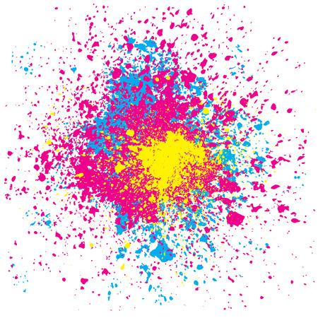 colori: grunge spruzzi di colori, illustrazione vettoriale con strati di file