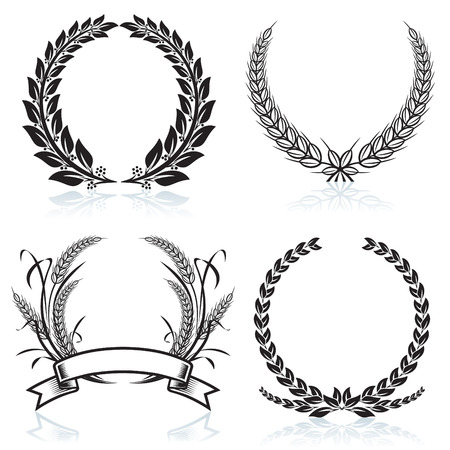 Laurel Wreaths pattern design, vector illustration file. Stock Vector - 3008421