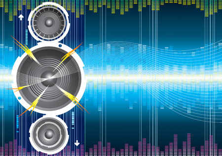 Audio speaker wave background, illustration with layers file Vector