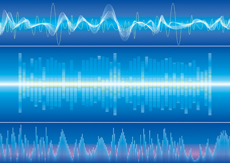 Sound wave background, vector illustration with layers file. Stock Vector - 3020340
