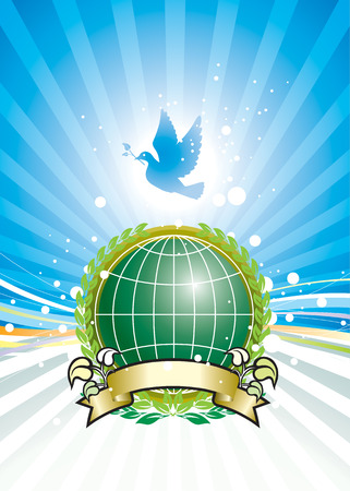 Freedom and Global Environment, vector illustration layers file Stock Vector - 3042862