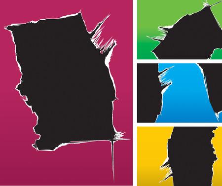 cartone strappato: Illustrazione vettoriale di cartone strappato colore di sfondo.