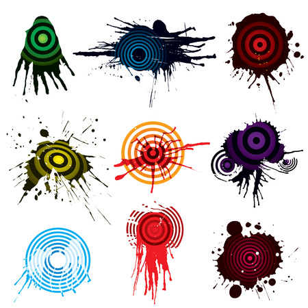 Target Aiming grunge designs, vector illustration file. Vector