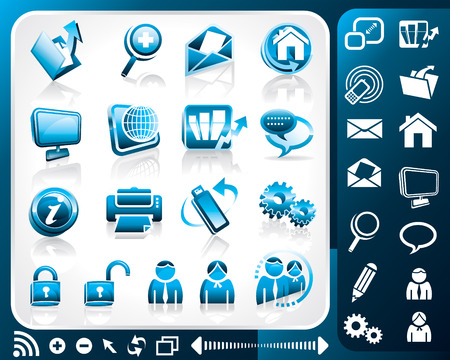 Icon set of internet, vector illustration layers file.  Vector