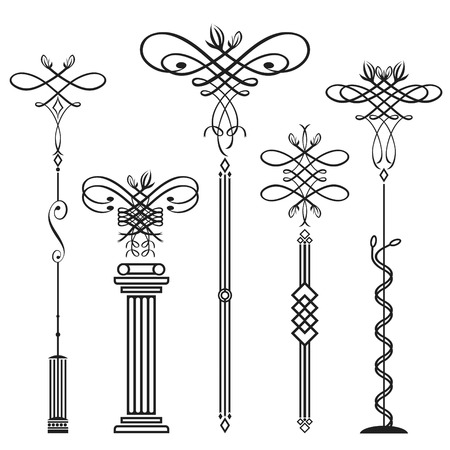 plant stand: vertical classical elements design, vector illustration file