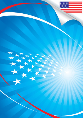 USA flag and background, vector illustration layers file.