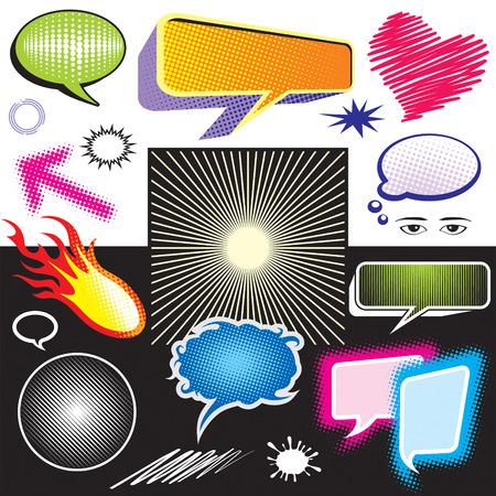 spachteln: Vektor-Illustration der Dialog Symbol Grafik, NO Gradienten f�llen, einfach bearbeiten Farbe.  Illustration