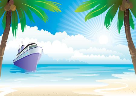 Bon Voyage di vacanze, illustrazione vettoriale strati file.