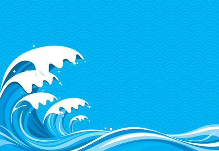 wave backdrop: Surf Graphic illustration, No gradient fill.
