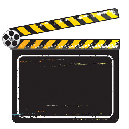 clapper board: Movie Clapper Board, vector illustration with layers file. Illustration