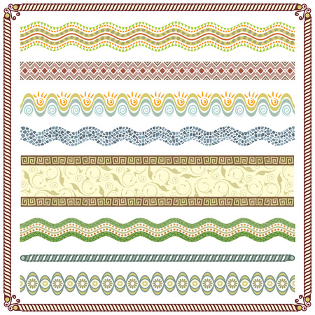grouped: Pattern Border vector illustration, Colors are grouped and Layered.