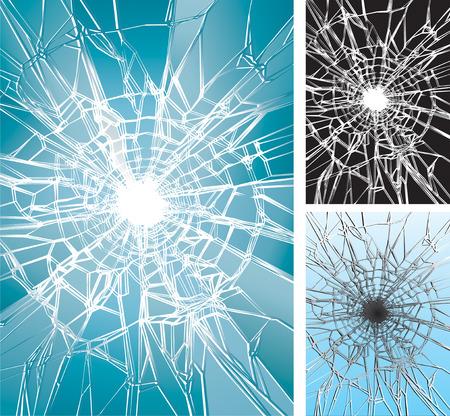 Glass Crushing, Vector illustration layered, easy edit colors. Vektoros illusztráció