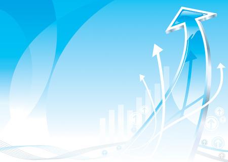 Growth Arrow design, vector illustration layered file.