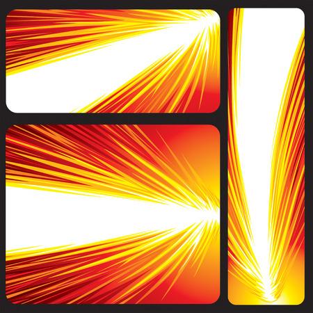 detonation: Red Glowing Banner, vector illustration layers file. Illustration
