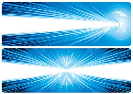 detonation: Power Hit. Banner design of powerful concept, vector illustration layered file.