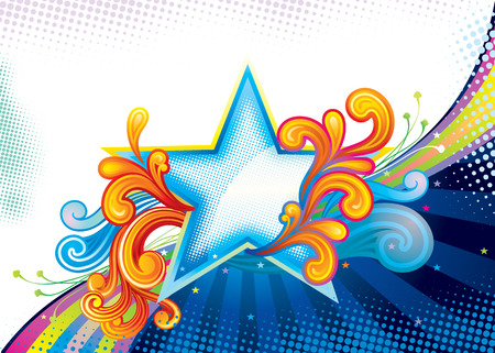 Elegance Star Shape, vector illustration layered file. Vector