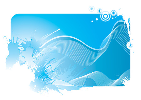 Blue color wave and splash background, vector illustration layered file Stock Vector - 3327859