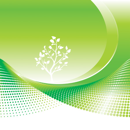 vector file: Green Environmental background, vector illustration layers file.