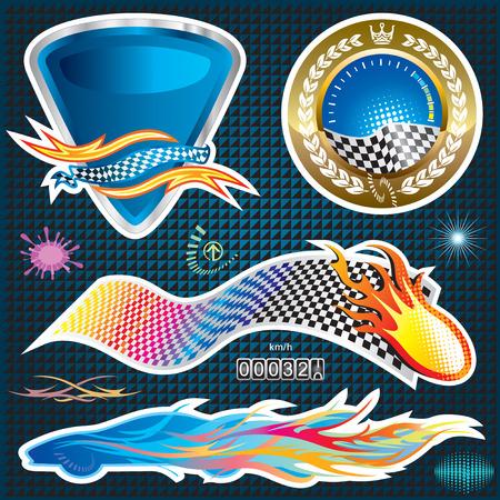 Automotive Sticker design, vector illustration layered file.