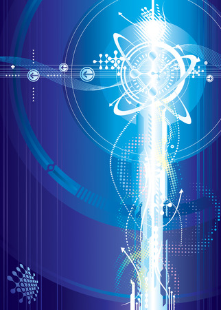 transforming: Futuristic  of Voltage, vector illustration layered. Illustration