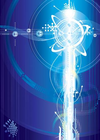 spannung: Futuristisches von Spannungs-, Vektor-Illustration Ebenen. Illustration