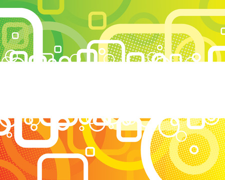 Abstract Fresh Banner of vector illustration layered. Vector