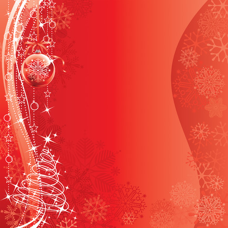 Christmas Decorations design of vector illustration layered.  Vector