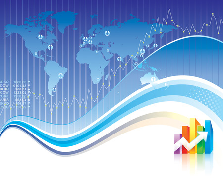 Global Finance design of vector illustration layered.  Vector