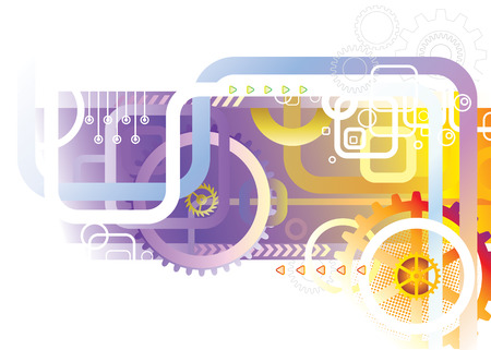 automated: Abstract Technology, industrial background, vector illustration layered.  Illustration