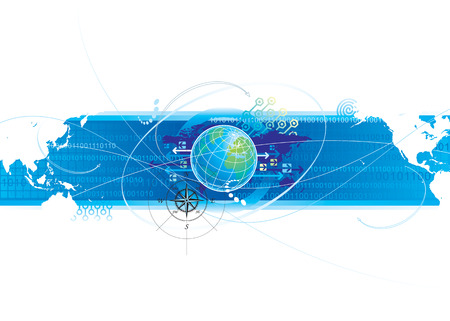 Global Connection, vector illustration layered.  Stock Vector - 3777724