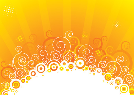 detonation: Abstract sun design, vector illustration layered.