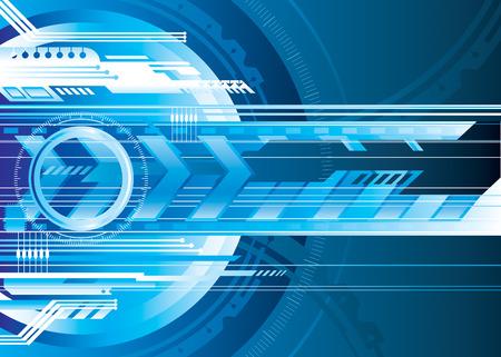 La tecnología digital azul de fondo, ilustración vectorial capas.