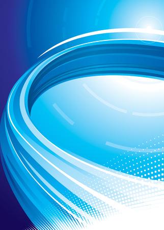 Blue technology background, vector illustration layered.  Ilustrace