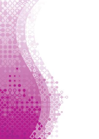 Shape of digital pattern design, vector illustration layered.