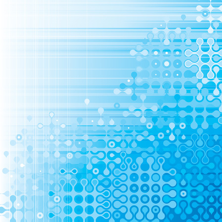 new technologies: Blue digital pattern background. vector layered.