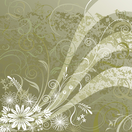 Floral background design, vector illustration layered.  Stock Vector - 4093773