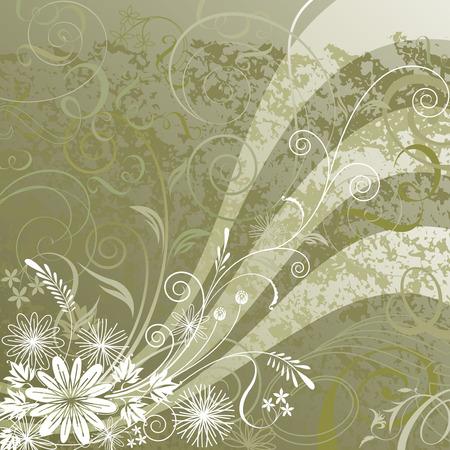 Floral background design, vector illustration layered.  Vector
