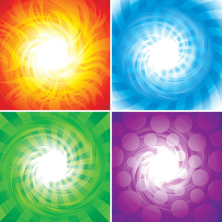 set of Four elements background, vector illustration layered. Stock Vector - 4403582