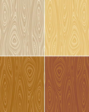 Seamless vector wooden texture backgrounds. No gradient, vector layered.