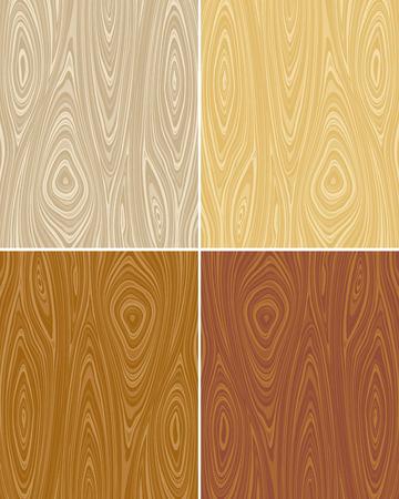 Seamless vector wooden texture backgrounds. No gradient, vector layered. Vector