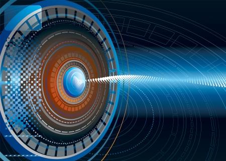 sensores: Resumen Antecedentes de la tecnolog�a futurista. Vecter capas. Vectores