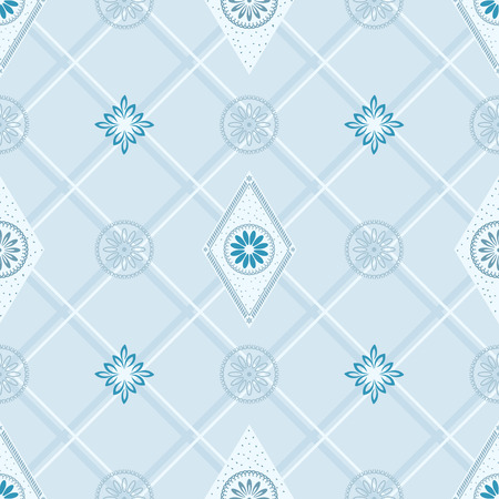 Seamless wallpaper in blue. vector layered. Vector