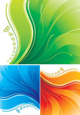 Set of digital background design. Vector layered. Vector