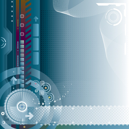 digitally concepts: Abstract technology background. Vector layered.
