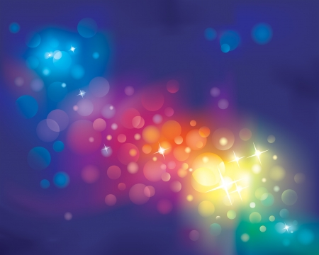 shimmering: Rainbow defocused light Background. vector layered.