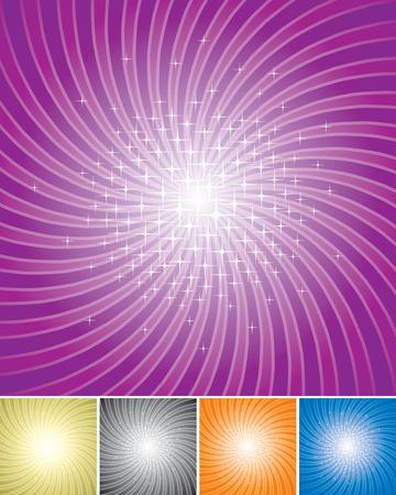 Set di Shining Star di sfondo irradiare. vettoriali a più livelli.