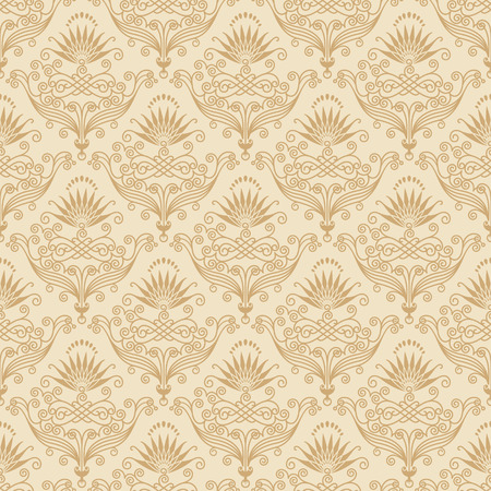 Seamless both side Damask wallpaper. Vector layered. Vector