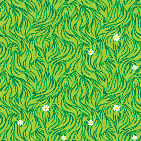 Seamless pattern of green grass. Vector Layered. Vector